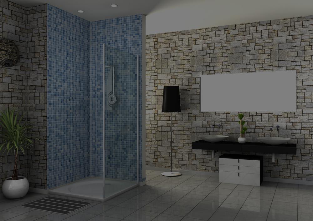 a modern tiled wetroom