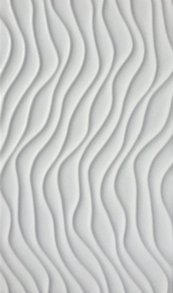 Wave White Metallic 20x33