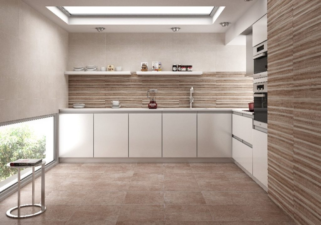 Stone Effect And Timber Tiles For The Kitchen